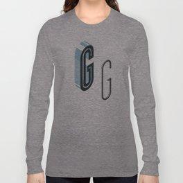 The Exploded Alphabet / G Long Sleeve T-shirt