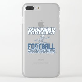 WEEKEND FORECAST FOOTBALL Clear iPhone Case