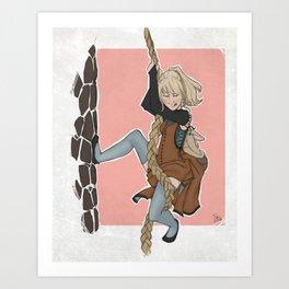 The Golden Stair Job Art Print