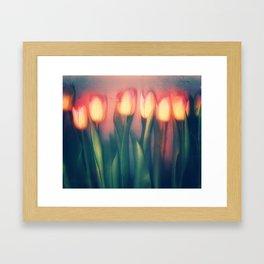 Tulips Yellow Framed Art Print