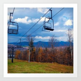 Fall Colors on Sugarloaf Mountain in Maine Art Print