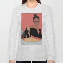 PASTA LADY Long Sleeve T-shirt