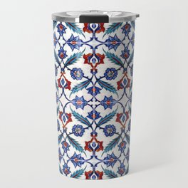 Iznik Tile Pattern Red Blue White Green Travel Mug