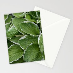 Hosta Leaves in the Rain Stationery Cards