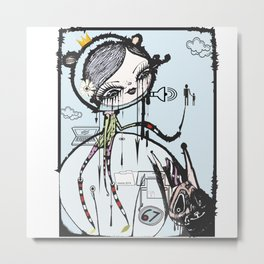do you want to build a snowman? Metal Print
