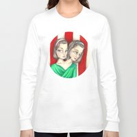 ahs Long Sleeve T-shirts featuring Bette and Dot Tattler (AHS) by Guilherme Mauad
