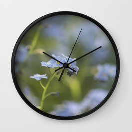 Forget me not in LOVE - Blue Flower Floral Spring Flowers on #Society6 Wall Clock
