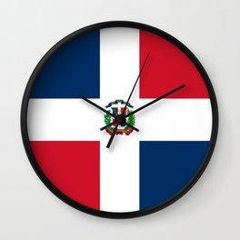 Bandera de la Republica Dominicana Wall Clock