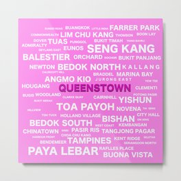 SINGAPORE - QUEENSTOWN Metal Print