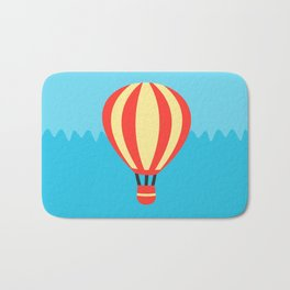 Classic Red and Yellow Hot Air Balloon Bath Mat