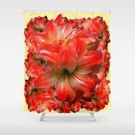 Amaryllis Floral abundance Shower Curtain