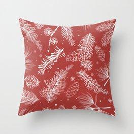 Festive Holiday Season Throw Pillow