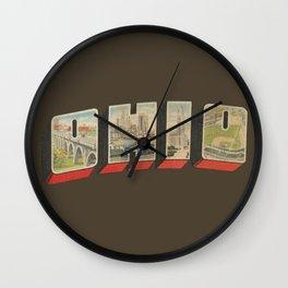 Vintage Ohio Big Letter Wall Clock