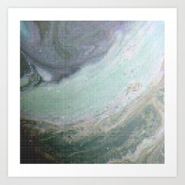 Saturn Infrared Art Print