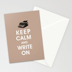 Keep Calm and Write On Stationery Cards
