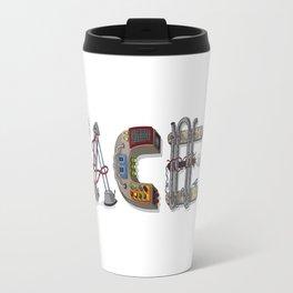 MACHINE LETTERS - FACES Travel Mug