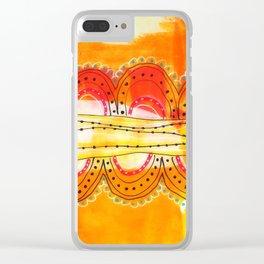 Summer Heat Clear iPhone Case