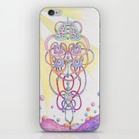 lungs iPhone & iPod Skins featuring Lungs by Queen Bohemia