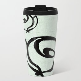 Flowers, Mother-Daughter, Mint Green Travel Mug