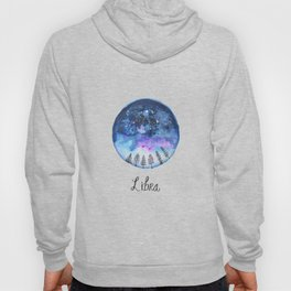 Libra Constellation Astrology Watercolour Galaxy Painting Hoody