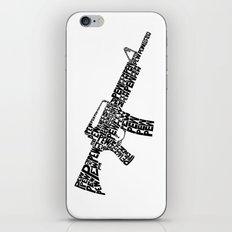 Pew Pew AR-15 iPhone Skin