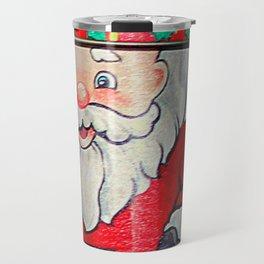 An Aside Glance Santa Travel Mug