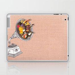 Bird Gramophone Cover Art Laptop & iPad Skin