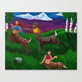 Cervitaurs At Play Canvas Print