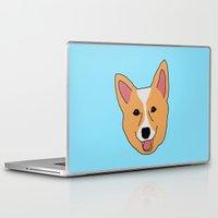 corgi Laptop & iPad Skins featuring Corgi by Justine Linette Neveu