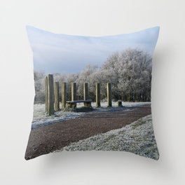 White Chasewater Country Park Throw Pillow