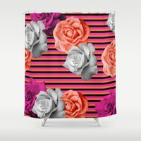 model Shower Curtains featuring Testing Model by Tyler Spangler