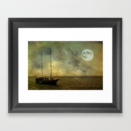A ship 2 Framed Art Print
