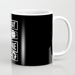 Eat Sleep Ride Repeat - Rider Riding Horse Saddel Coffee Mug