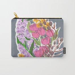 Pastel Floral Bouquet Carry-All Pouch
