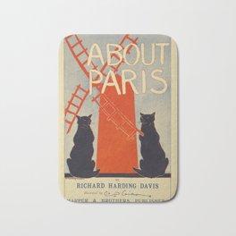 Reproduction Paris Vintage Poster Bath Mat