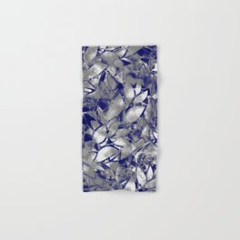 Grunge Art Silver Floral Abstract G169 Hand & Bath Towel