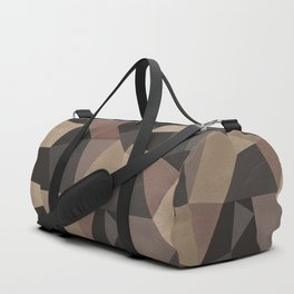 Brown pattern . Leather patches . Duffle Bag
