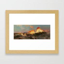 Thomas Moran, Green River Cliffs, Wyoming 1881 Framed Art Print