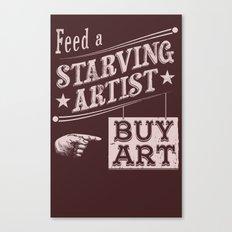Feed an Artist Canvas Print