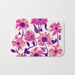 Sunflower Watercolor – Pink & Purple Palette Bath Mat