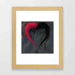 SU-bstance: Löve Framed Art Print