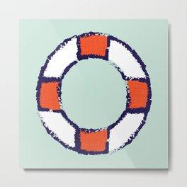 lifeguard buoy aqua #nauticaldecor Metal Print