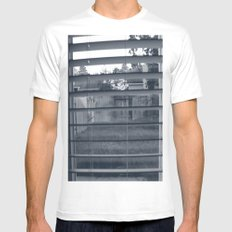Black & White Background Mens Fitted Tee White MEDIUM