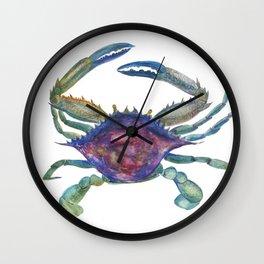 blue sea crab Wall Clock