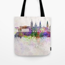 Guadalajara skyline in watercolor background Tote Bag