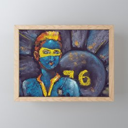 Fallout 76 - the girl from the shelter. Pastel drawing Framed Mini Art Print