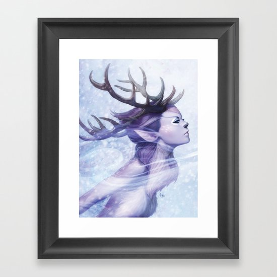 Deer Princess Framed Art Print
