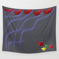 boats Wall Tapestries featuring Boats by XKbeth