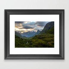Geiranger Valley Framed Art Print