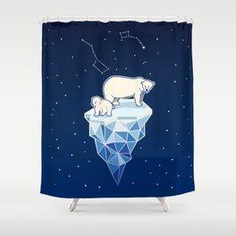 Polar bears on iceberg Shower Curtain